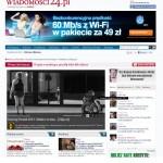 Jedna z publikacji w sewisie informacyjnym Wiadomości24.pl